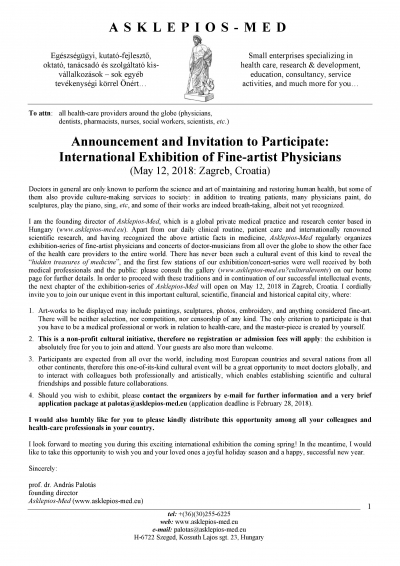 International Exhibition of Fine-artist Physicians